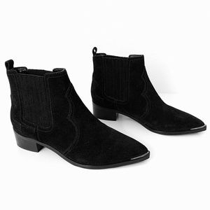 Marc Fisher Black Suede Ankle Yohani Bootie